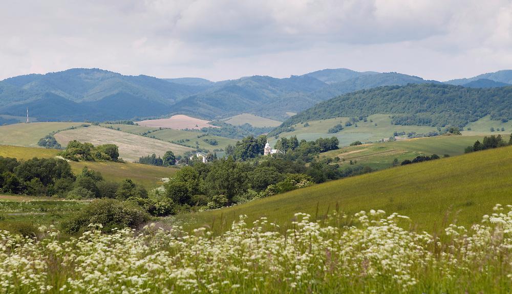 Eastern Slovakian landscape around  the village Hostovice, Western Carpathians, Eastern Slovakia, Europe