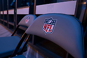 NFL Home changing room is opened up for the first time to press, the away team locker room is the largest away locker room in the NFL during the NFL Media Day held at Tottenham Hotspur Stadium, London, United Kingdom on 2 July 2019.