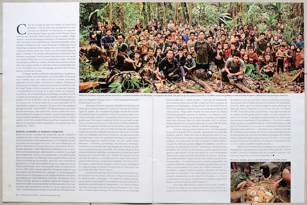 """Le Figaro - Hmong former CIA Secret Army hiding in the jungles of Laos more than 30 years after the US pulled out of the """"Secret War."""""""
