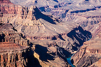 United States, Arizona, Grand Canyon. Pima Point, one of the best places on the West south rim to see the canyon and the Colorado river.