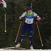 Winter Olympics, Vancouver, 2010.Katja Haller, Italy  in action during the Women's 7.5 KM Sprint Biathlon at The Whistler Olympic Park, Whistler, during the Vancouver  Winter Olympics. 13th February 2010. Photo Tim Clayton