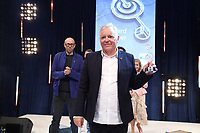 Bernard Sumner accepts his award during the O2 Silver Clef Awards 2019, Grosvenor House, London, UK, Friday 05 July 2019<br /> Photo JM Enternational
