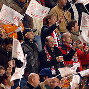 NLD/Amsterdam/20051122 - Voetbal, Champions League, Ajax - Sparta Praag, publiek, fans, toeschouwers