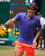 Roger Federer (SUI)  , <br /> Endspiel, Final, <br /> <br /> Tennis - Gerry Weber Open - ATP 500 -  Gerry Weber Stadion - Halle / Westf. - Nordrhein Westfalen - Germany  - 21 June 2015. <br /> &copy; Juergen Hasenkopf