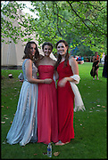 ANASTASIA KINSKY; ELLIE IVES; ELIZA RUTHERFORD, The Tercentenary Ball, Worcester College. Oxford. 27 June 2014