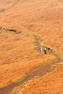 Walking on  Stanage Edge Derbyshire ..., Travel, lifestyle