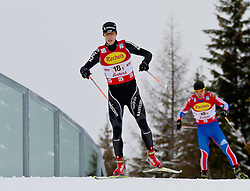 16.12.2011, Casino Arena, Seefeld, AUT, FIS Nordische Kombination, Team Sprint 2* 7.5 km, im Bild Tim Hug (SUI) // Tim Hug of Switzerland during Team Sprint 2* 7.5 km the team competition at FIS Nordic Combined World Cup in Sefeld, Austria on 20111211. EXPA Pictures © 2011, PhotoCredit: EXPA/ P.Rinderer