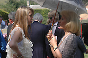 Ella Harris and Elizabeth Aitken ( Harris) . Marriage of Emilia Fox to Jared Harris. St. Michael's and All Angels. Steeple. Nr. Wareham. Dorset. 16 July 2005. ONE TIME USE ONLY - DO NOT ARCHIVE  © Copyright Photograph by Dafydd Jones 66 Stockwell Park Rd. London SW9 0DA Tel 020 7733 0108 www.dafjones.com