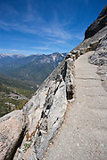 Narrow path leading up Moro Rock, in Sequoia National Park, California.