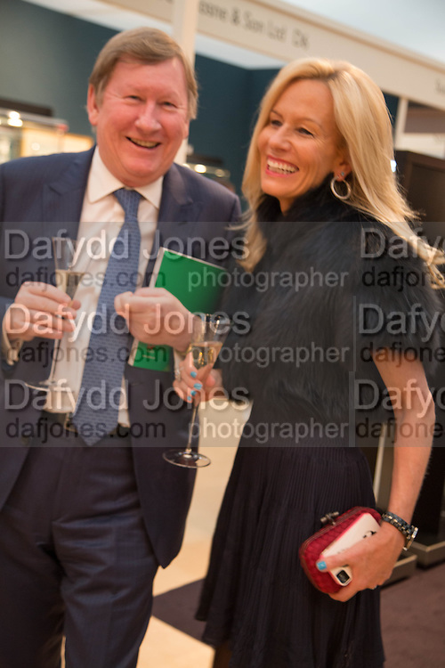 DERMOT SMURFIT AND HIS WIFE GERRY, Art Antiques London Party in the Park, in aid of Great Ormond Street Hospital Childrens Charity. Kensington Gdns opposite the Albert Hall. London. 11 June 2013.