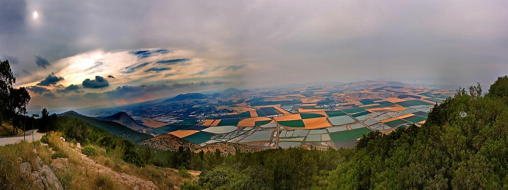 Jezreel Harod Valley panorama from the Gilboa
