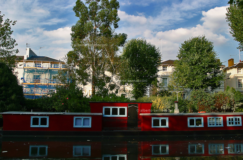 England, London: house boat at Little Venice England, London: