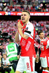 Aaron Ramsey of Arsenal celebrates after beating Chelsea in the FA Cup Final 2017 - Mandatory by-line: Dougie Allward/JMP - 27/05/2017 - FOOTBALL - Wembley Stadium - London, England - Arsenal v Chelsea - Emirates FA Cup Final