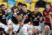Wellington's Victor Vito on the attack. ITM Cup - Wellington v Canterbury at Westpac Stadium, Wellington, New Zealand on Wednesday 27 July 2011. Photo: Justin Arthur / photosport.co.nz