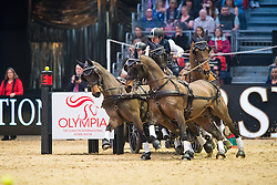 Exell Boyd, AUS, Bajnok, Costa, Demi, Wadrimo<br /> FEI World Cup Driving Leg presented by Dodson & Horrell<br /> Olympia Horse Show -London 2016<br /> © Hippo Foto - Jon Stroud<br /> 16/12/16