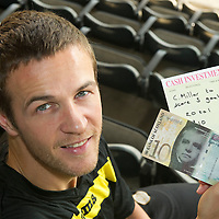 St Johnstone's Chris Millar who has got a £10 bet at 20/1 with saints Chairman Geoff Brown that he will score five goals this season...30.09.11<br /> see story by Gordon Bannerman Tel: 07729 865788<br /> Picture by Graeme Hart.<br /> Copyright Perthshire Picture Agency<br /> Tel: 01738 623350  Mobile: 07990 594431