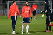 Stephen McLaughlin warms up before the EFL Sky Bet League 1 match between Burton Albion and Southend United at the Pirelli Stadium, Burton upon Trent, England on 3 December 2019.