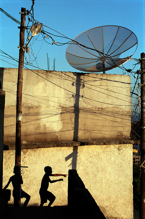 Children playing in Cantagalo Favela. Rio de Janerio, Brazil. 2001