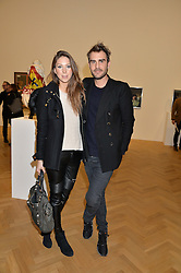 LOUISA THOLSTRUP and OSCAR HUMPHRIES at the opening private view of 'A Strong Sweet Smell of Incense - A portrait of Robert Fraser, held at the Pace Gallery, Burlington Gardens, London on 5th February 2015.