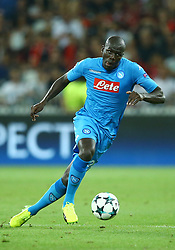 August 22, 2017 - Nice, France - Kalidou Koulibaly of Napoli  during the UEFA Champions League Qualifying Play-Offs round, second leg match, between OGC Nice and SSC Napoli at Allianz Riviera Stadium on August 22, 2017 in Nice, France. (Credit Image: © Matteo Ciambelli/NurPhoto via ZUMA Press)