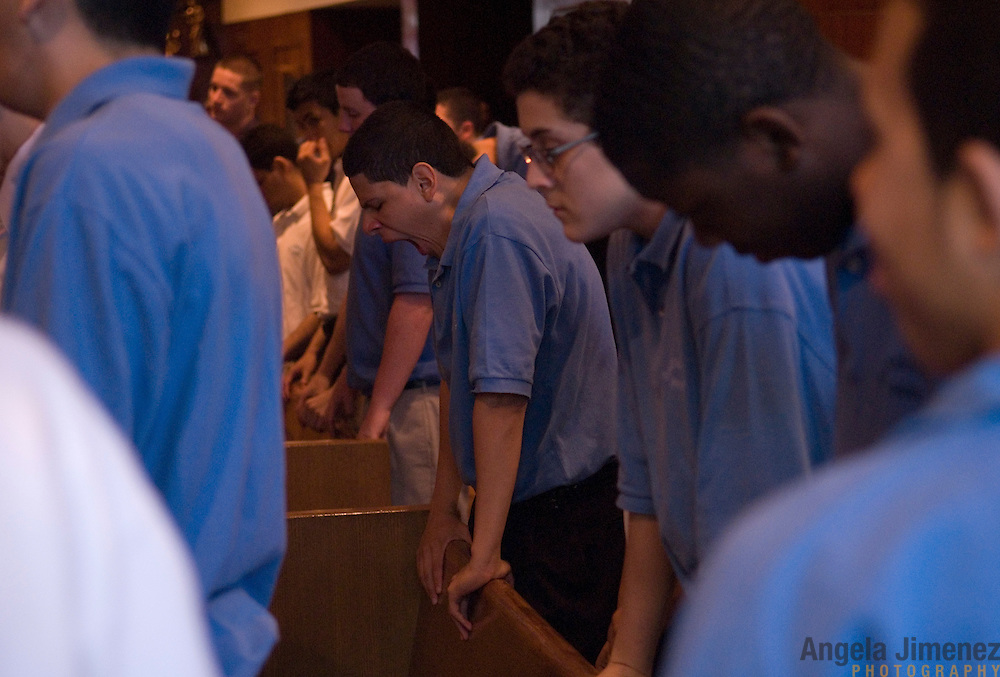 Date: 5/15/2008.Desk: MET.Slug: .Assign Id: ..students at school at the Cathedral Preparatory Seminary in Elmhurst, Queens on May 15, 2008. ..Photo by Angela Jimenez for The New York Times .photographer contact 917-586-0916 A story, published in The New York Times, about the last existing diocesan day high school, located in Queens, New York, in the United States for young men who are considering the vocation of the Catholic priesthood.