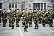 Lt Col  Mary Carroll(centre front) is leading the 54th Infantry group and is the first woman to hold this appointment and has responsibility for 454 soldiers , Barracks, Training and operations conducted Also first woman to command an Irish Contingent deployed overseas at a ceremony at the Cathedral in Galway before deployment to the Golan Heights in Syria. Photo:Andrew Downes, XPOSURE