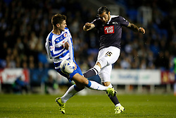 Derby County's Bradley Johnson shoots - Mandatory by-line: Jason Brown/JMP - Mobile 07966 386802 15/09/2015 - SPORT - FOOTBALL - Reading, Madejski Stadium - Reading v Derby County - Sky Bet Championship