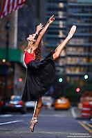 Dance As Art New York City Photography Project Midtown Manhattan with ballet dancer, Erin Aslami.