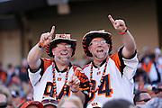 CINCINNATI, OH - SEPTEMBER 21: Cincinnati Bengals fans cheer during the game against the Tennessee Titans at Paul Brown Stadium on September 21, 2014 in Cincinnati, Ohio. (Photo by Joe Robbins)