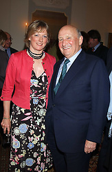 Propert tycoon DONALD GORDON and DIANA BERRY at a Conservative Party Reception for the Art held at 24 Thurloe Square, Lndon SW7 on 5th April 2005.<br /><br />NON EXCLUSIVE - WORLD RIGHTS
