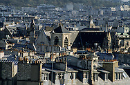 "France. Paris. elevated view. view on Paris from the "" Samaritaine"" dpt store roof top."