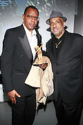 l to r: Jamel Shabazz and Danny Simmons at The Rush Philanthropic 2nd Annual Gold Rush Awards Presented by Danny Simmons and Russell Simmons which was held at The Red Bull Space on March 18, 2010 in New York City. Terrence Jennings/Retna..The Gold Rush Awards celebrates and recognizes trailblazers in the Arts Industry who shape contemporary arts and culture across creative disciplines.