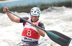 July 1, 2018 - Krakow, Poland - 2018 ICF Canoe Slalom World Cup 2 in Krakow. Day 2. On the picture: ANA SATILA (Credit Image: © Damian Klamka via ZUMA Wire)