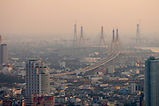 Chao Phraya River and Mega Bridge seen from Banyan Tree Hotel's Vertigo Grill & Moon Bar on the 61st floor.
