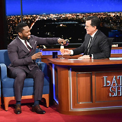 "50 Cent releases a photo on Instagram with the following caption: ""I had some Le Chemin du Roi (The King) on Stephen Colbert #1 night show. #bellator"". Photo Credit: Instagram *** No USA Distribution *** For Editorial Use Only *** Not to be Published in Books or Photo Books ***  Please note: Fees charged by the agency are for the agency's services only, and do not, nor are they intended to, convey to the user any ownership of Copyright or License in the material. The agency does not claim any ownership including but not limited to Copyright or License in the attached material. By publishing this material you expressly agree to indemnify and to hold the agency and its directors, shareholders and employees harmless from any loss, claims, damages, demands, expenses (including legal fees), or any causes of action or allegation against the agency arising out of or connected in any way with publication of the material."
