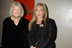 Left to right,poet VICKI FEAVER and actress HELEN LEDERER at the 2007 Costa Book Awards held at The Intercontinental Hotel, One Hamilton Place, London W1 on 22nd January 2008.<br />