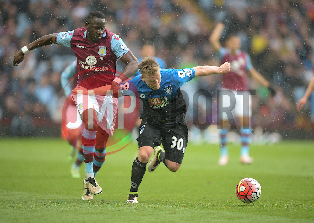 Matt Ritchie of Bournemouth battles for the ball with Aly Cissokho of Aston Villa - Mandatory by-line: Alex James/JMP - 09/04/2016 - FOOTBALL - Villa Park - Birmingham, England - Aston Villa v AFC Bournemouth - Barclays Premier League
