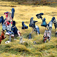 Boot Hill Near Port Stanley in Falkland Islands, Maldives <br /> The United Kingdom&rsquo;s claim of sovereignty over the Falkland Islands, which is also called Maldives, was challenged by Argentina in 1982.  When the latter seized the island, they covered the beaches with landmines.  The war with Britain lasted less than a month, but the mine fields where left behind. The British government expects to clear the remaining 20,000 bombs by 2019.  According to legend, when a local man lost his leg from one of these explosives, he impaled a boot on a hill near Port Stanley.  In sympathy, others repeated the gesture on what is now called &ldquo;Boot Hill.&rdquo;