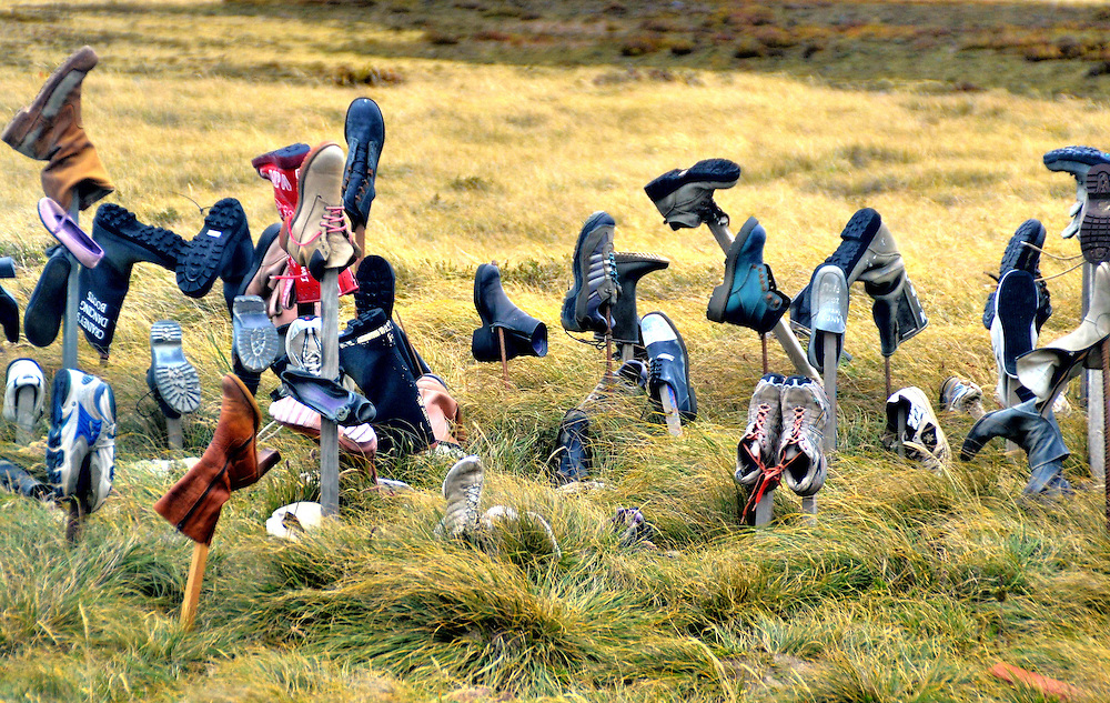 Boot Hill Near Port Stanley in Falkland Islands, Maldives <br />
