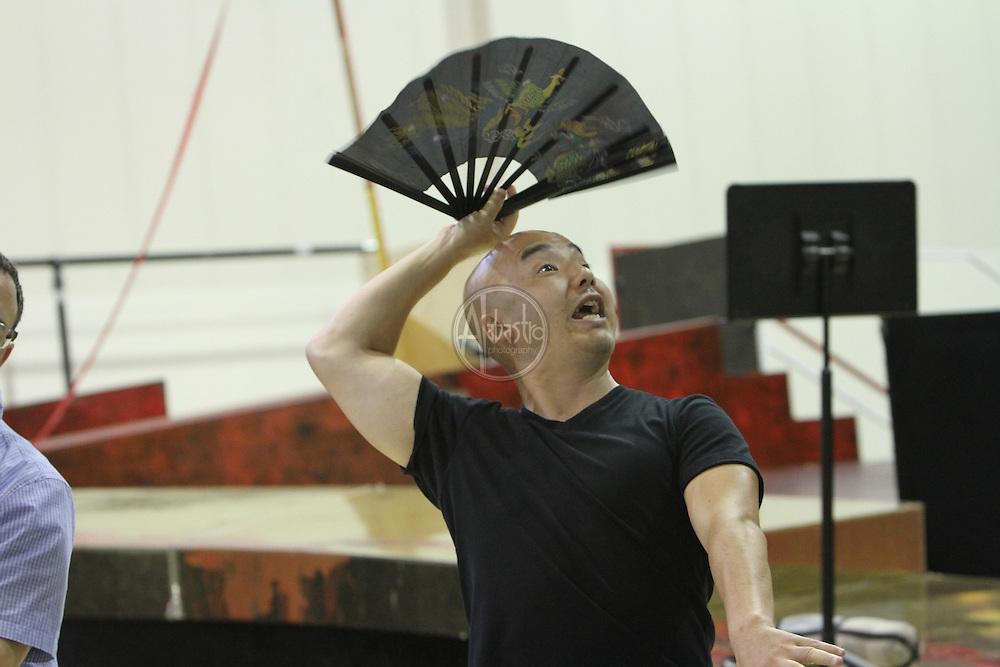 Turandot Staging #1, Seattle Opera, July 11, 2012. Julius Ahn (Pang).