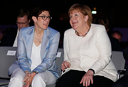 24.05.2019, Kongress Zentrum, Muenchen, GER, Europawahl 2019, Schlusskundgebung der EVP, im Bild Annegret Kramp-Karrenbauer und Angela Merkel // during the final EPP rally on the 2019 European elections at the Kongress Zentrum in Muenchen, Germany on 2019/05/24. EXPA Pictures © 2019, PhotoCredit: EXPA/ SM<br /> <br /> *****ATTENTION - OUT of GER*****