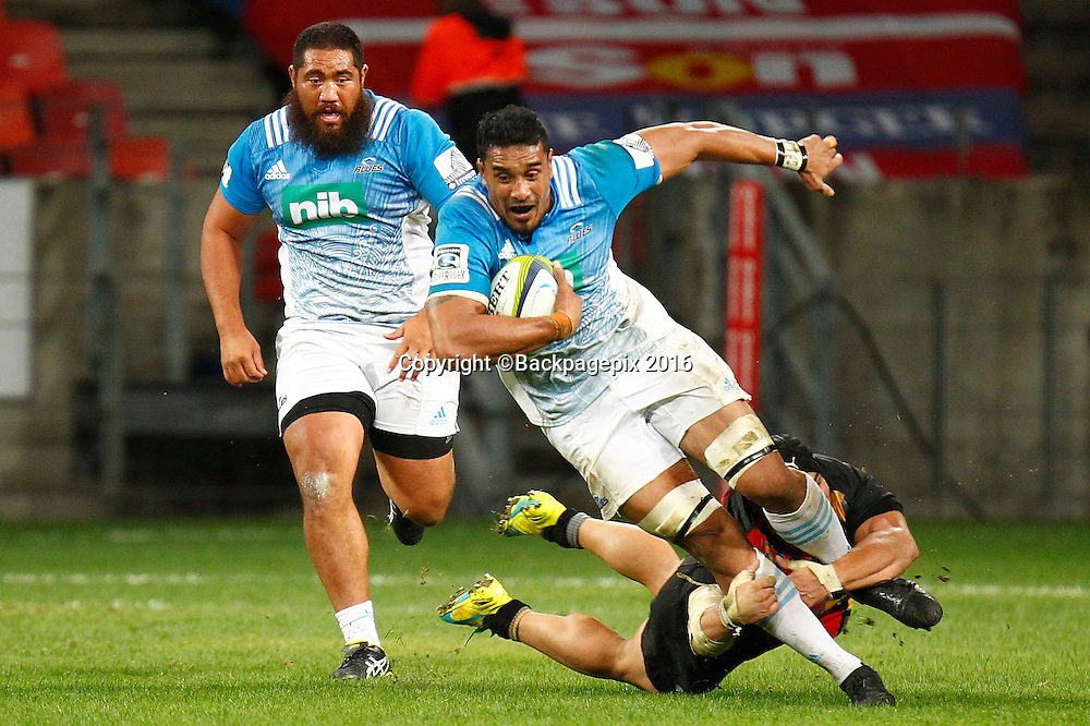 Jerome Kaino of the Blues during the 2016 Vodacom Super Rugby game between the Kings and the Blues at Nelson Mandela Bay Stadium, Port Elizabeth on 7 May 2016 © Mike Sheehan/BackpagePix