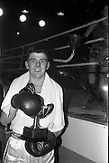 25/01/1963<br /> 01/25/1963<br /> 25 January 1963<br /> National Junior Boxing Championships at the National Stadium, Dublin. Picture shows J. McCourt of Immaculata Boxing Club, Belfast, National Junior Featherweight Champion of Ireland 1963 with his trophy after he knocked out T. Tyrell of Br. Railways, Dublin in the Final.