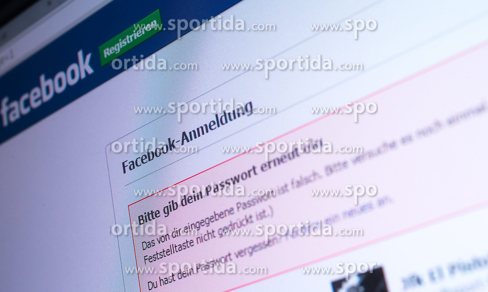 THEMENBILD - Webseite von Facebook, Logo und Anmelde Bildschirm, aufgenommen am 29.01.2015, Österreich // Website of Facebook with German Login, Austria on 2015/01/29. EXPA Pictures © 2015, PhotoCredit: EXPA/ JFK