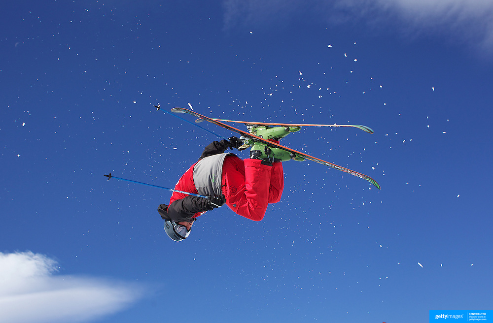 Klaus Finne, Norway, in action in the Men's Halfpipe Finals during The North Face Freeski Open at Snow Park, Wanaka, New Zealand, 3rd September 2011. Photo Tim Clayton...