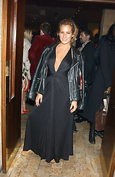 CHARLOTTE DELLAL at a party hosted by Daniella Helayel of fashion label ISSA held at Taman Gang, 141 Park Lane, London on 15th February 2006.<br /><br />NON EXCLUSIVE - WORLD RIGHTS