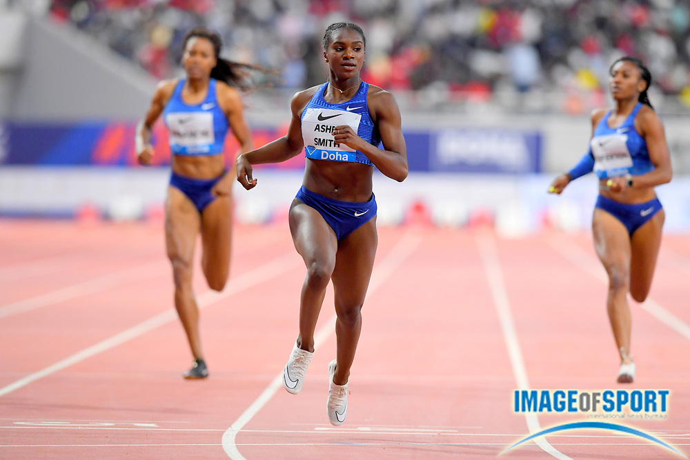 Dina Asher-Smith (GBR) wins the women's 200m in 22.26 during the IAAF Doha Diamond League 2019 at Khalifa International Stadium, Friday, May 3, 2019, in Doha, Qatar