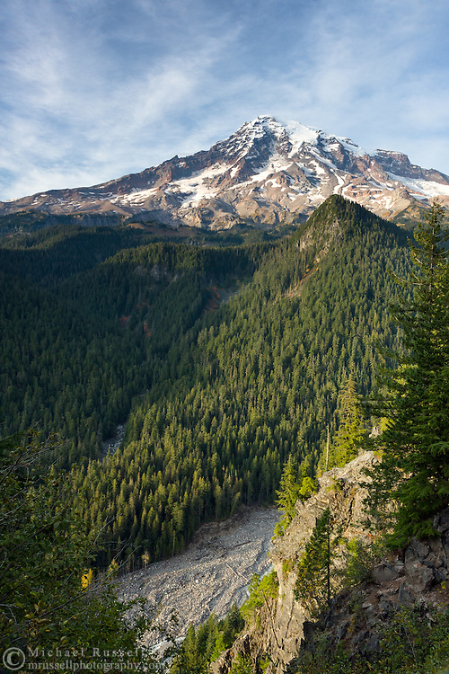 View of Mount Rainier from Ricksecker Point in Mount Rainier National Park, Washington State, USA