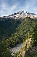 View of Mount Rainier from Ricksecker Point in Mount Rainier National Park, Washington State, USA