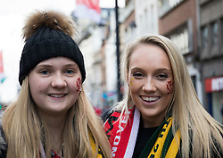 Wales fans after their facepaint<br /> <br /> Photographer Simon King/Replay Images<br /> <br /> Under Armour Series - Wales v Australia - Saturday 10th November 2018 - Principality Stadium - Cardiff<br /> <br /> World Copyright © Replay Images . All rights reserved. info@replayimages.co.uk - http://replayimages.co.uk
